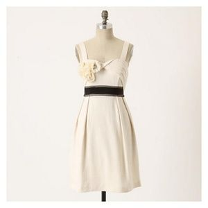 Deletta Cream Rosette Sleeveless Breakfast Dress